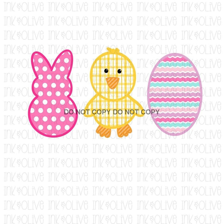 Pink Easter Trio Sublimation Transfer