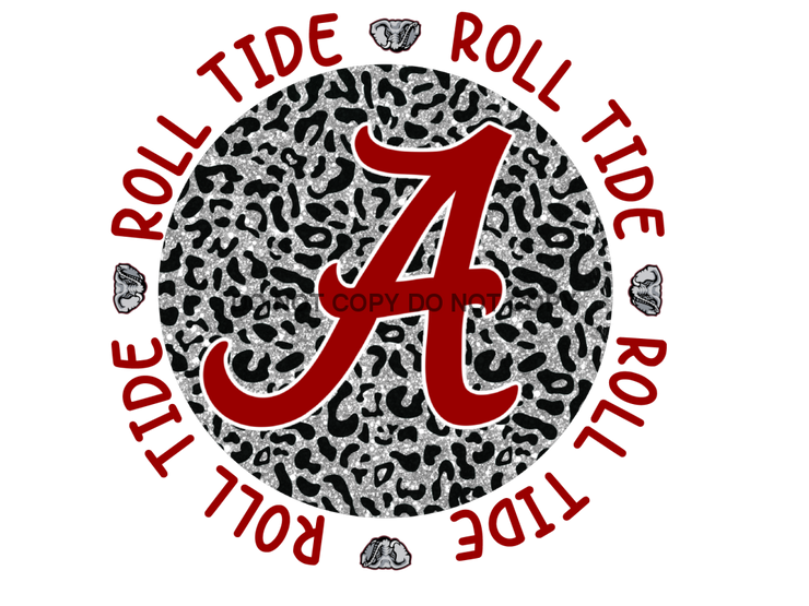 Roll Tide Sublimation Transfer Alabama Football