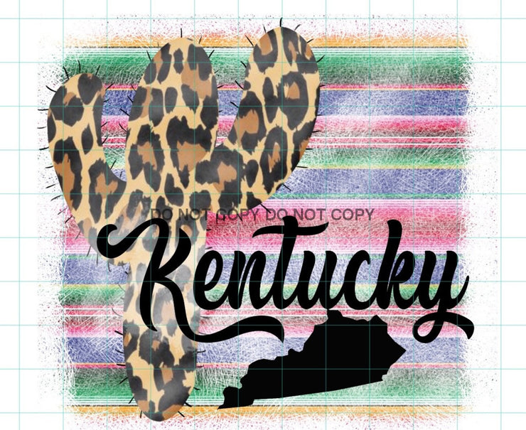 Sassy Kentucky Cactus Sublimation Transfer