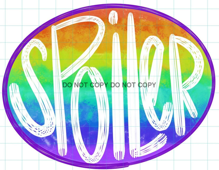 Spoiler Rainbow Sublimation Transfer