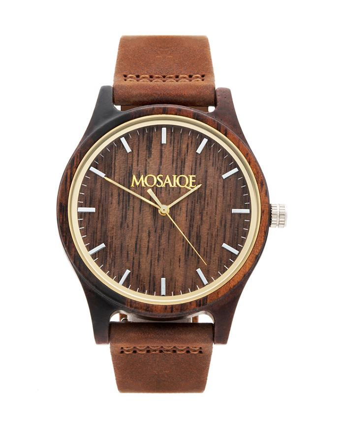 Walnut Wooden Watch UK Vegan Gift