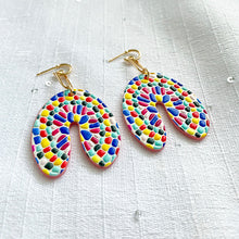 Load image into Gallery viewer, Mosaic Arch Earrings