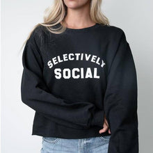 Load image into Gallery viewer, Selectively Social Raw Hem Sweatshirt
