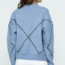 Load image into Gallery viewer, Blue With Gray Sweater