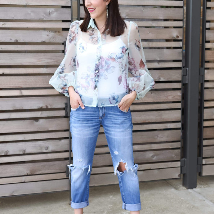 Fanco Tops Fresh Florals Top