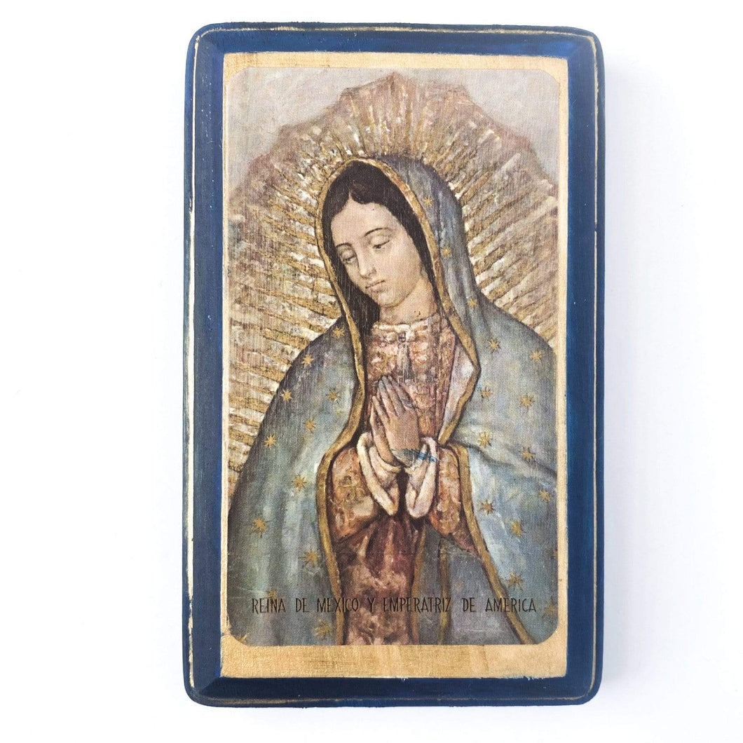 Our Lady of Guadalupe Print on Wood