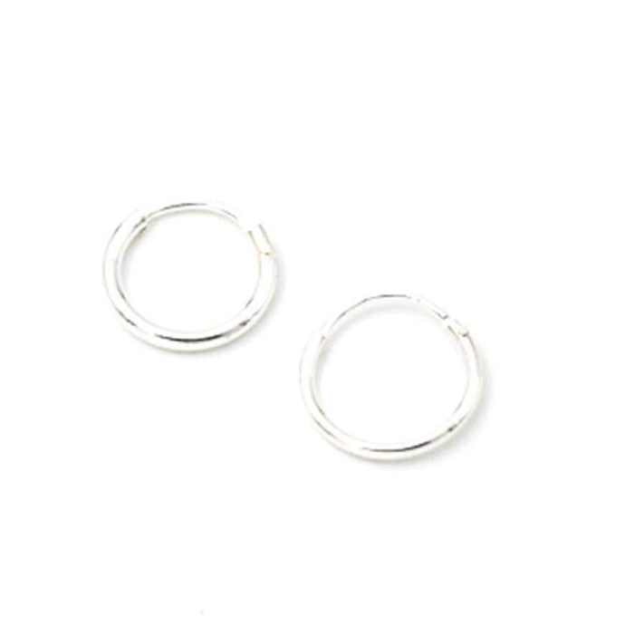 May Martin Earrings Silver Tiny Hoops