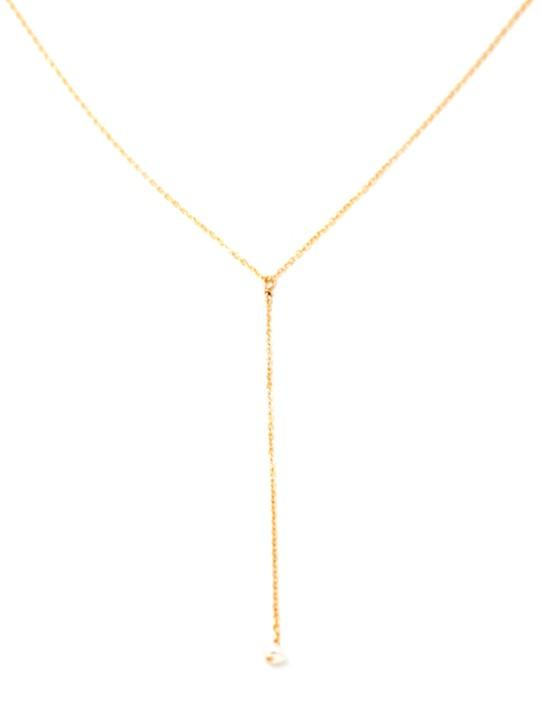 May Martin Necklaces Pearl Lariat Necklace