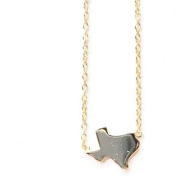 Modes Jewelry Necklaces Gold Texas Charm Necklace