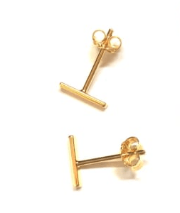 Nikki Smith Designs Earrings Gold Dainty Bar Stud Earrings