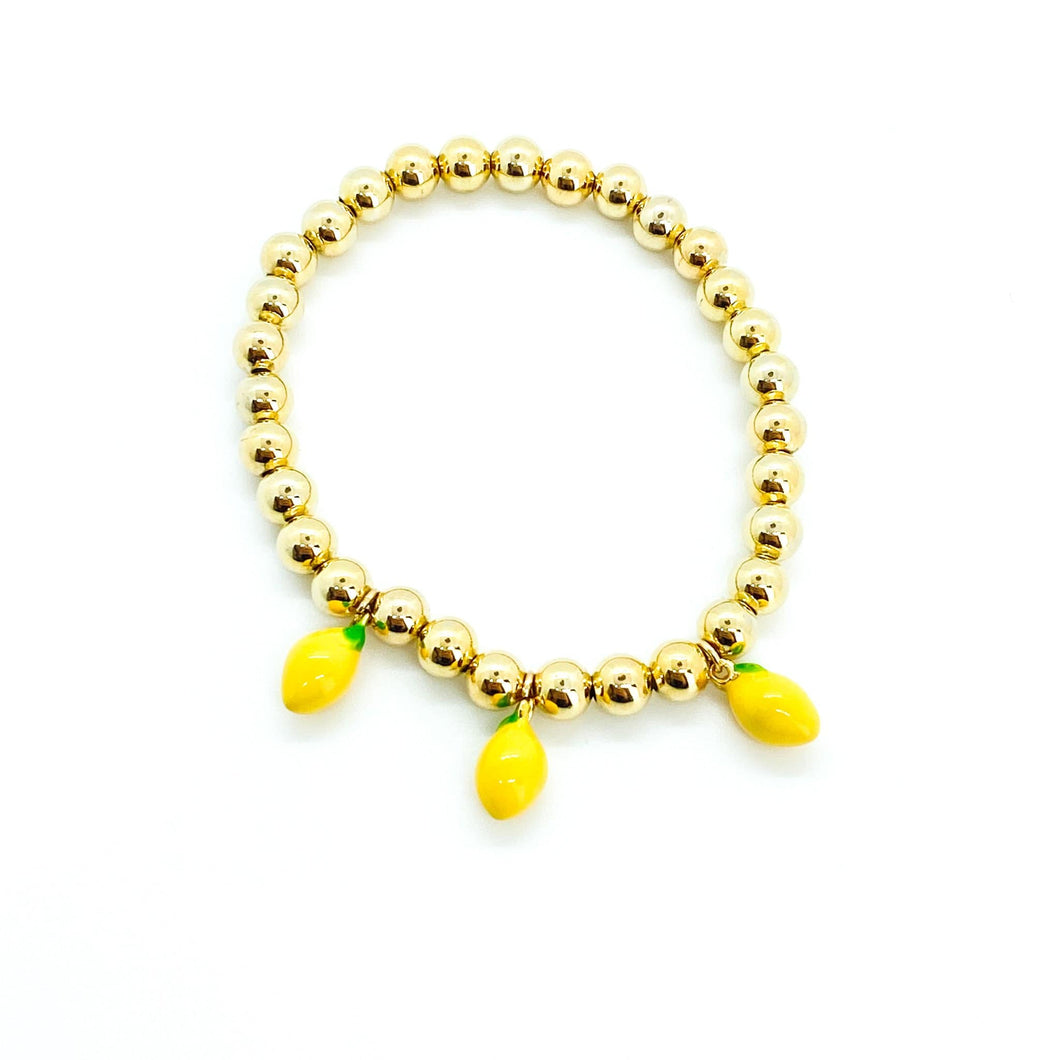 Lemon Beaded Bracelet