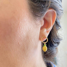 Thais Earrings Circle Lemon Earrings