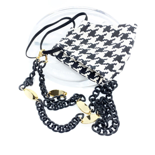 Zenzii Face Mask Chains 3-in-1 Convertible Painted Metal With Gold Accents Mask Chain