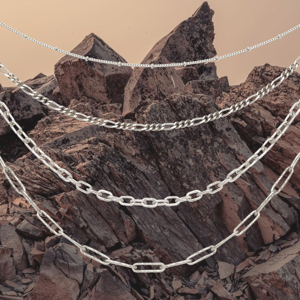 silver chain layering