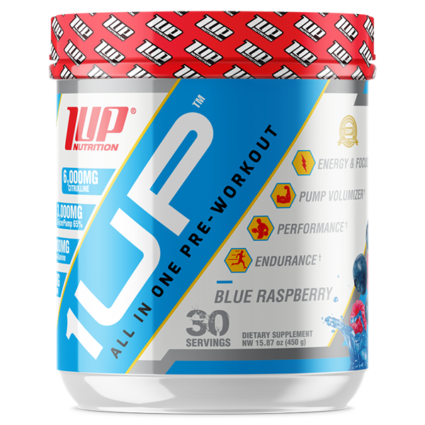 1UP PRE WORKOUT Blue Raspberry 1UP All In One Pre-Workout