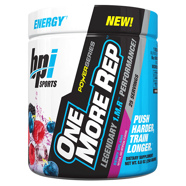 BPI PRE WORKOUT Fruit Punch BPI 1MR One More Rep 25 Serve Pre Workout