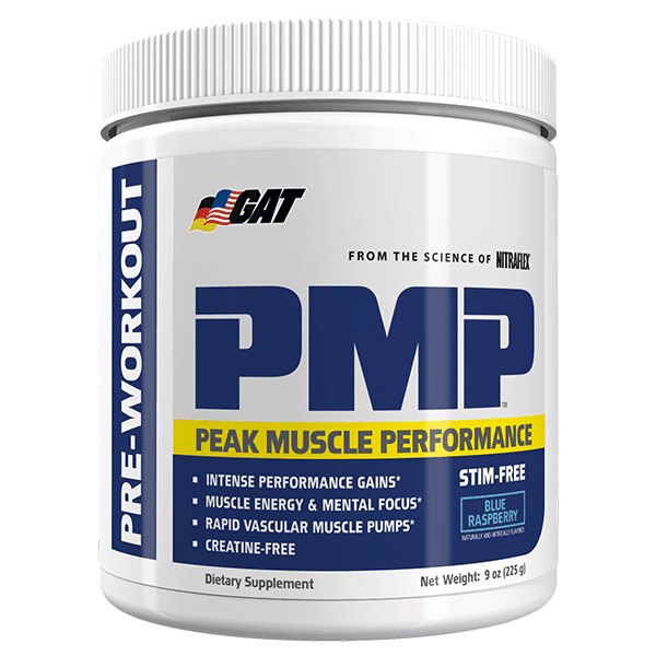 GAT PRE WORKOUT 30Servings / Blue Raspberry GAT PMP STIM FREE