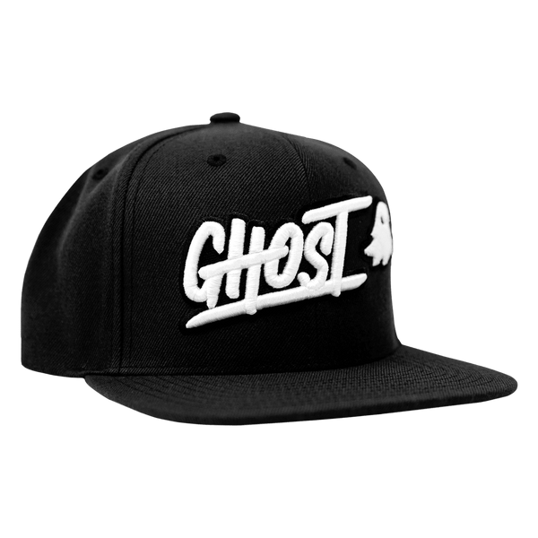 Ghost APPAREL Black Ghost Logo Snapback Hat Cap