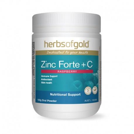 Herbs of Gold VITAMINS Herbs of Gold Zinc Forte + C Raspberry 100g Oral Powder