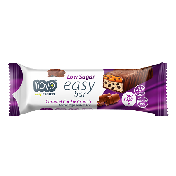 Novo Nutrition HEALTH FOOD,SNACKS AND BARS Novo Nutrition Protein Crunch Low Sugar  Easy Bar