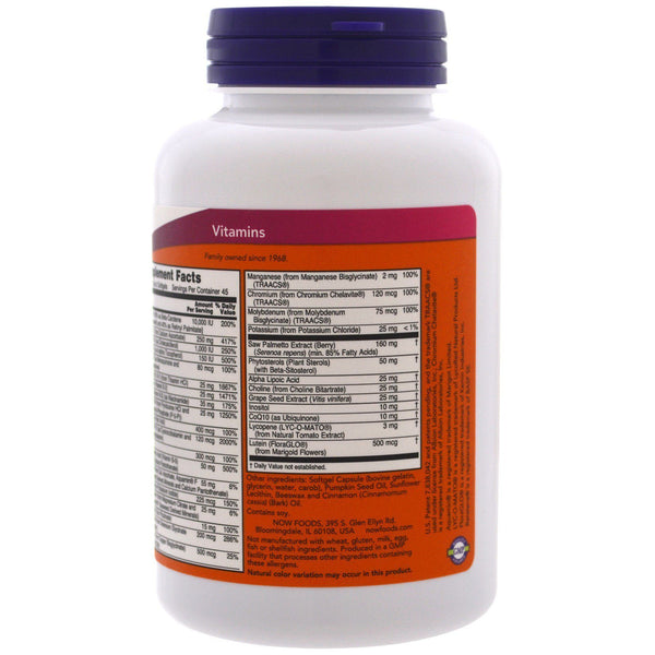 Now Foods VITAMINS Now Foods, Adam, Superior Men's Multi, 90 Softgels