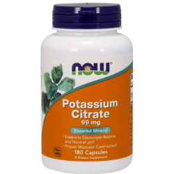 Now Foods VITAMINS Now Foods, Potassium Citrate, 99 mg, 180 Capsules