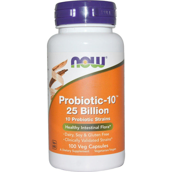 Now Foods VITAMINS Now Foods, Probiotic-10, 25 Billion, 100 Veg Capsules