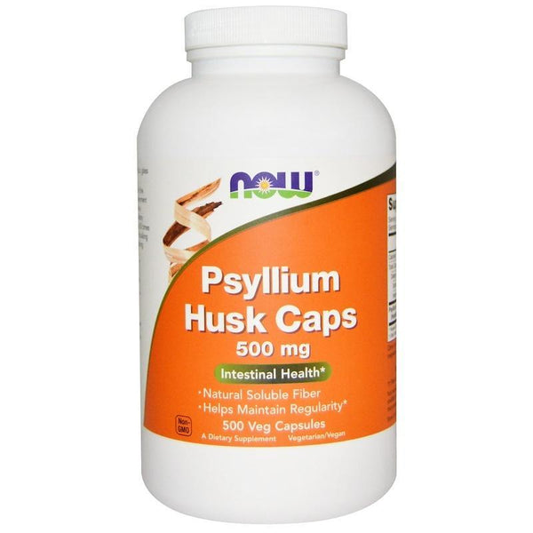 Now Foods VITAMINS Now Foods, Psyllium Husk Caps, 500 mg, 500 Veggie Caps