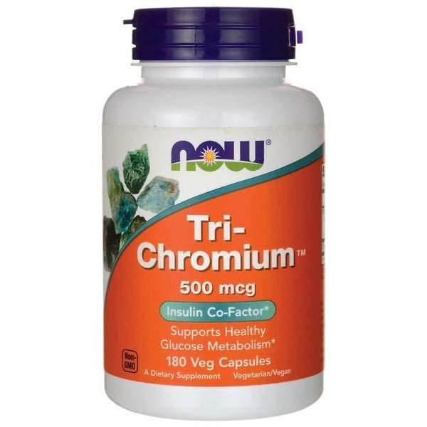 Now Foods VITAMINS Now Foods, Tri-Chromium, 500 mcg, 180 Veg Capsules
