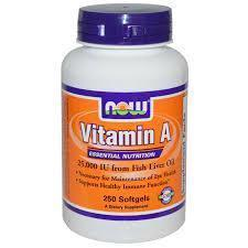 Now Foods VITAMINS Now Foods, Vitamin A, 25,000 IU, 250 Softgels