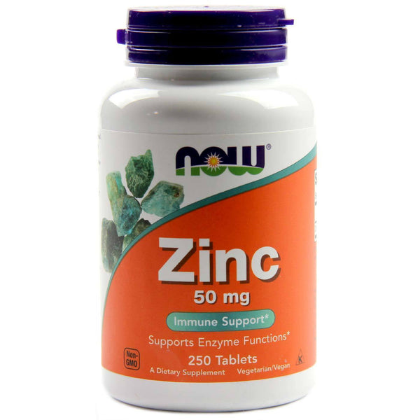 Now Foods VITAMINS Now Foods, Zinc, 50 mg, 250 Tablets