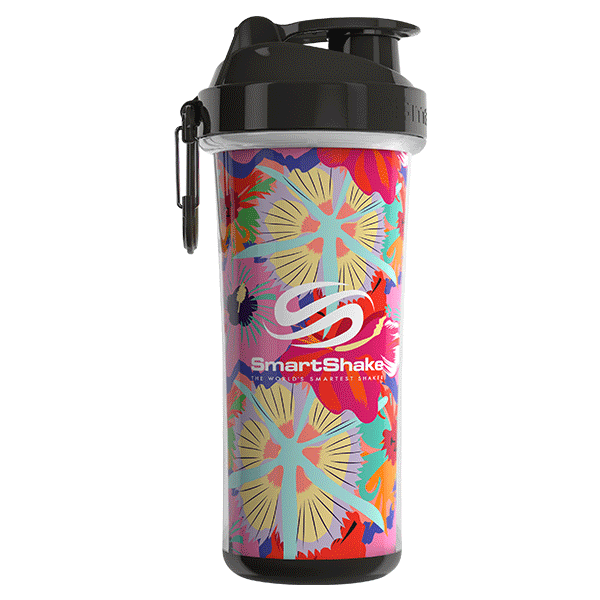 SmartShake SHAKERS 750ML / Flower Power (Tropical Red) SmartShake Shaker Double Wall 750ML