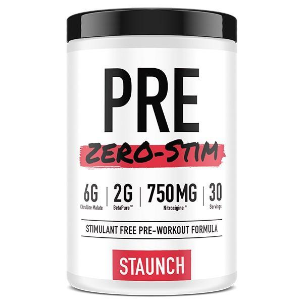 Staunch PRE WORKOUT 30Servings / Blue Raspberry Staunch Pre- Workout Zero-Stim