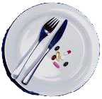 Supplements on a plate