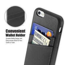 "Ultra Slim iPhone 6/6S (4.7"") Case, Premium Handcrafted Leather Back Cover with Credit Card Slot Holder, Black, Cobble Pro"