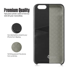 "Ultra Slim iPhone 6/6S Plus (5.5"") Case, Premium Handcrafted Leather Back Cover with Credit Card Slot Holder, Black, Cobble Pro"