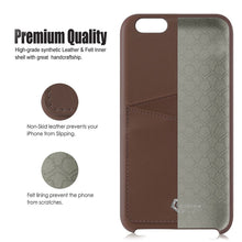 "Ultra Slim iPhone 6/6S Plus (5.5"") Case, Premium Handcrafted Leather Back Cover with Credit Card Slot Holder, Brown, Cobble Pro"