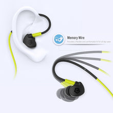 Bluetooth 4.1 In-Ear Earphones with Built-in Mic, Sports Sweatproof, Noise Isolation, Black/Neon Green, Cobble Pro