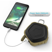 Cobble Pro Portable Sporty Outdoor Bluetooth Speaker, IP 67 Waterproof/Shockproof/Built-in 2000mAh Power Bank, Black/Sand