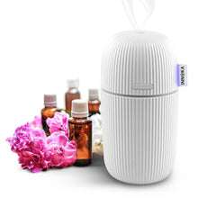 INNOKA Portable Ultrasonic Aroma Fragrance Essential Oil Diffuser, Cool Mist Humidifier with Adjustable Modes [Humidification & Aromatherapy], 110ml, White
