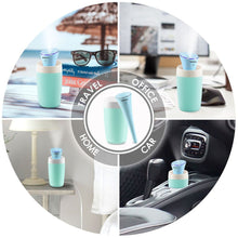 INNOKA Ultrasonic Portable Cool Mist Mini Air Humidifier with LED Light Indicator for Home Goods/Bedroom/Office Goods/Travel/Hotel/Car, 280ml, Ice Blue