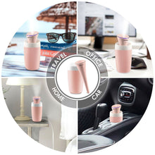 INNOKA Ultrasonic Portable Cool Mist Mini Air Humidifier with LED Light Indicator for Home Goods/Bedroom/Office Goods/Travel/Hotel/Car, 280ml, Pink