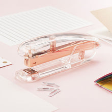 Zodaca [Deluxe Acrylic Design] Stapler, 15 Sheets Capacity, Clear/Rose Gold