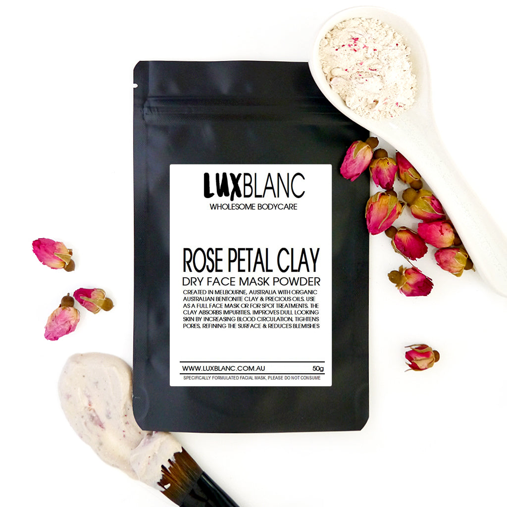 Rose Petal Clay Dry Face Mask