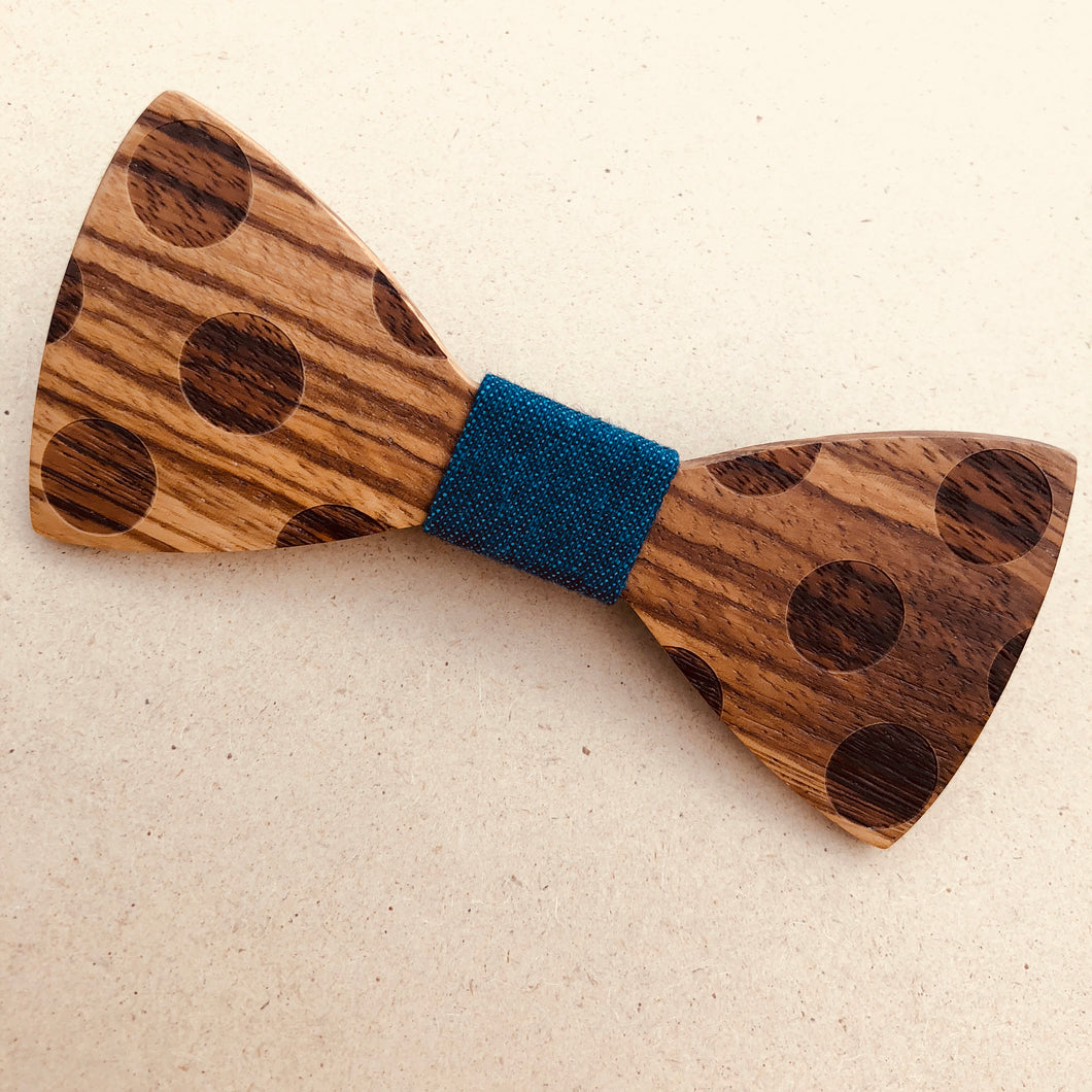 Wooden Bow Tie | Dot