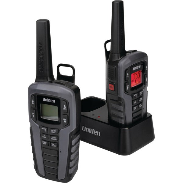 Uniden(R) SX377-2CKHS 37-Mile 2-Way FRS-GMRS Radios (Gray)