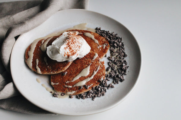 Chocolate Protein Pancakes (dairy and gluten-free)
