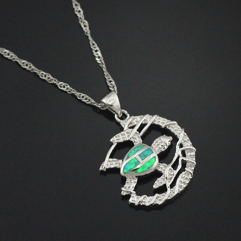 Free The Turtle Fire Opal Necklace