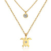 Sea Turtle Double Chain Neckalce