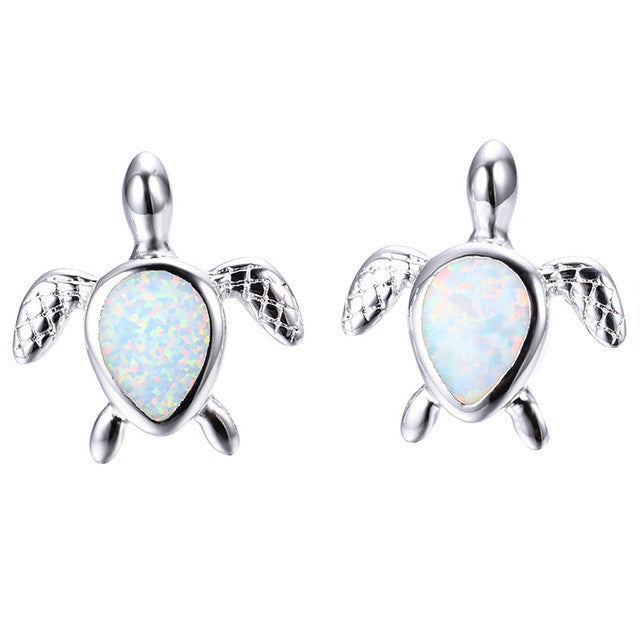 Turtle Fire Opal Earrings